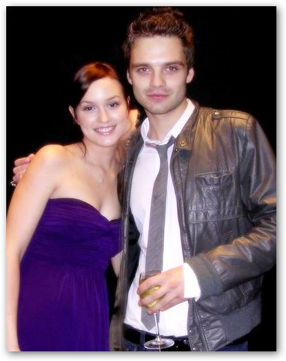 Leighton Meester, Sebastian Stan at Party