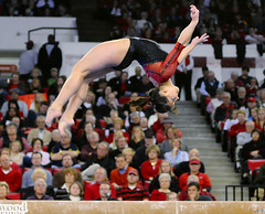 031409_gym_taylor (Kelly M. Lambert) Tags: college dogs georgia university grace gymnastics taylor sec gym gymdogs