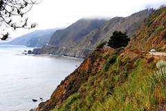 Highway 1: The Scenic Drive  (Y. Peter Li Photography) Tags: ocean sea cliff beach rock fog 1 coast highway marine pacific line hwy coastal layer winding