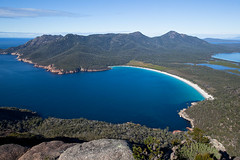 Wineglass Bay Tasmania Australia (john white photos) Tags: ocean blue sea australia tasmania wineglassbay pristine freycinet