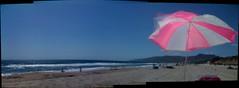 Panorama of blissful relaxation at Zuma beach