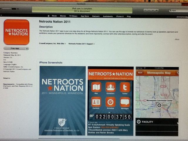 Netroots Nation 11 for iPhone/iPod Touch