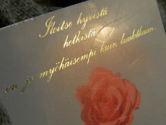 An old card I found.. (Text in Finnish)