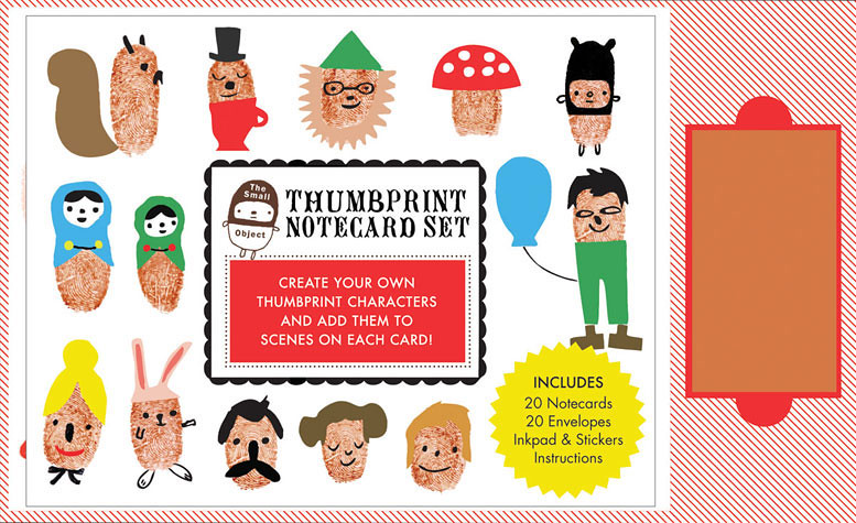 thumbprint notecard set