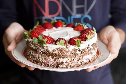 Maasika-šokolaadi-kohupiimakook