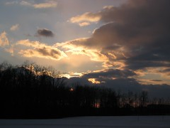 Sunset from Ellicot Complex (Leya :P) Tags: winter sunset sun snow clouds evening