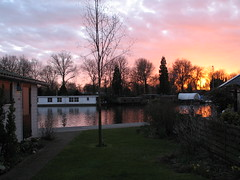 The things I see from my window (Harry -[ The Travel ]- Marmot) Tags: pink sunset red sky house holland reflection tree home window water netherlands grass amsterdam garden fire canal view garage diary shed birch kanaal 2008 whereilive noord amsterdamnoord dagboek zijkanaal zijkanaali thethingsiseefrommywindow thingsiseefrommywindow