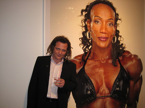Artist Martin Schoeller at his Ace GAlelry exhibit of photos of female bodybuilders