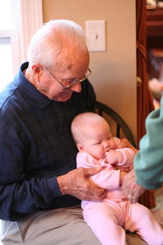Grandpa Brown and Leah