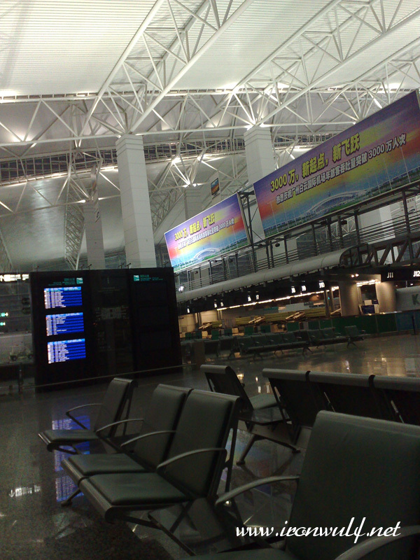 Waking up at the departure area