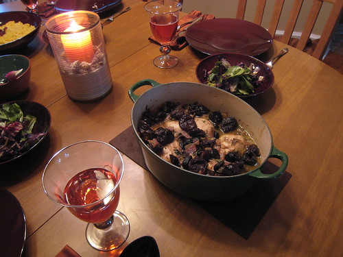Michael's Moroccan Chicken and Prunes + Delicious Saffron Risotto
