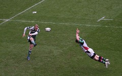 Charge (David Coldrey) Tags: irish london sport canon action rugby union guinness premiership quins harlequins coldrey madejski