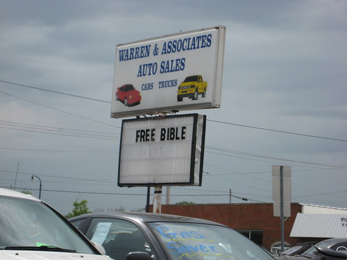 Buy a Car, get a free bible