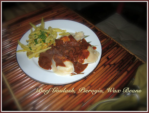 Beef Goulash with Pierogis