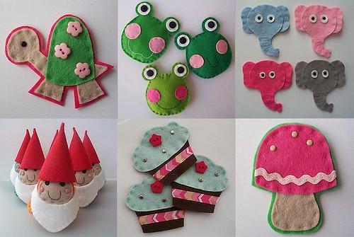 cute handmade felt embellishments