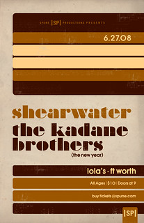 Shearwater and The Kadane Bros. Poster