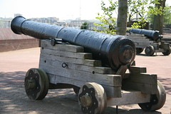 Cannon in front of us.... (John.P.) Tags: uk london deptford guesswherelondon thamespath gwl se8