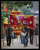 Funeral procession 1 (Jom Manilat) Tags: money asian drums vietnamese drum vietnam hoian torch funeral standard standards cymbals cymbal aficionados funeralprocession falsemoney aficinonados
