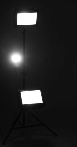 Lighting stand lit