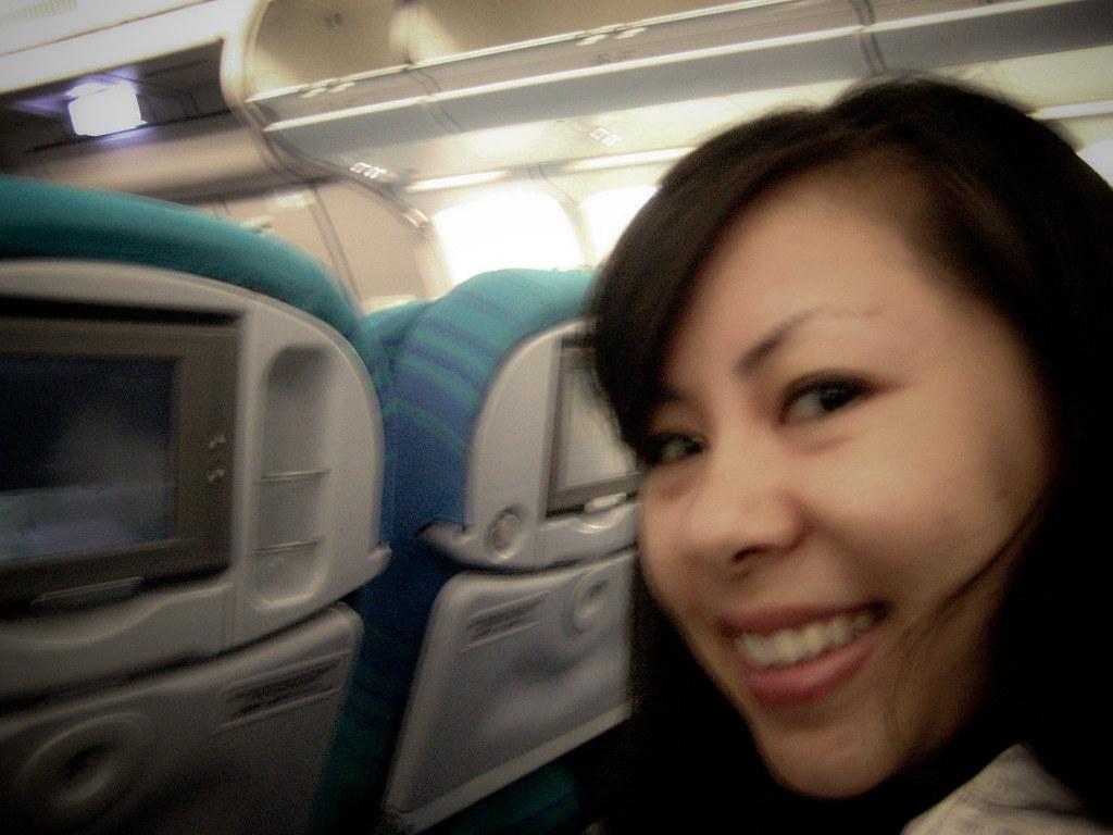Still Smiling:  barely made the flight