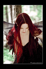 Gracefulness (isabella.jorgensen) Tags: woman tree face wings dress pale fantasy acting redhair larp theather fairty