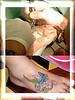 tatuagem flores e borboleta no pe TARZIA TATTOO -