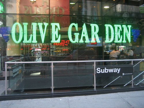 No Word On If The Bread Sticks Are Unlimited. Originally Posted By Epoch  Times. The Olive Garden Location In Times Square ...