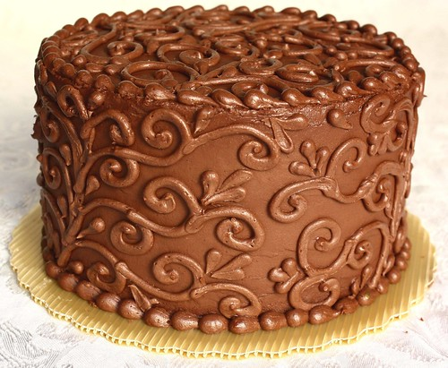 Chocolate Truffle Cake -  angle
