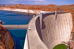 Where you end (henrikj) Tags: arizona usa industry nature water architecture river 04 dam az page electricity april 2007 glencanyondam