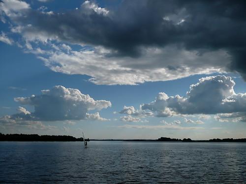 wind serf on Volga river