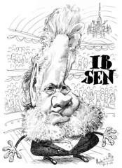 IBSEN, Henrik (Morales de los Ríos) Tags: writers caricaturas philosophers caricatures escritores filósofos
