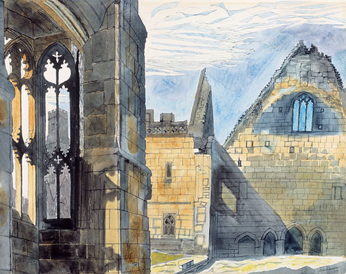 'Derelict Chapel, Minions Nr Uskeard', 1958 - watercolour and pen and ink - (faslondon.com)