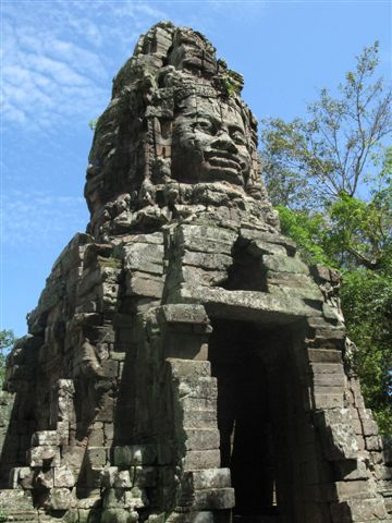 large face at Bayon temple