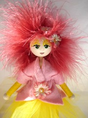 Eliane (DawnAliceRogers) Tags: wood pink flowers light red people sun cute art wool sunshine yellow glitter catchycolors hair children mom toy doll display handmade oneofakind ooak painted magic mommy small feathers mother fuchsia naturallight felt mama redhead fairy fantasy faery figure etsy artdoll redhair artforsale tulle whimsical dollhouse originaloneofakind artdollelf etsychai