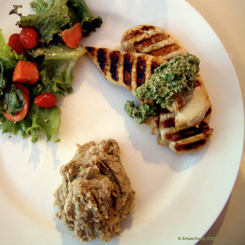 Grilled Chicken with Pumpkin Seed Pesto