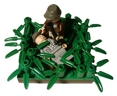 Dead (Battledog) Tags: field grass dead soldier army sad shot lego killed fighting kneeling technique grief moc
