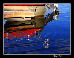 My colorful reflection (Tran_Thaohien) Tags: red abstract color reflection boat colorphotoaward aplusphoto thaohien thebestofday gnneniyisi peachofashot bestofvietbestphoto vietbestphoto photoartbloggroup