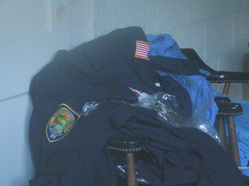Abandoned police uniforms