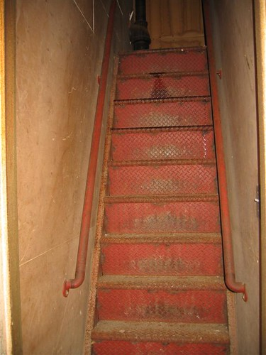 Utility staircase in the nightclub