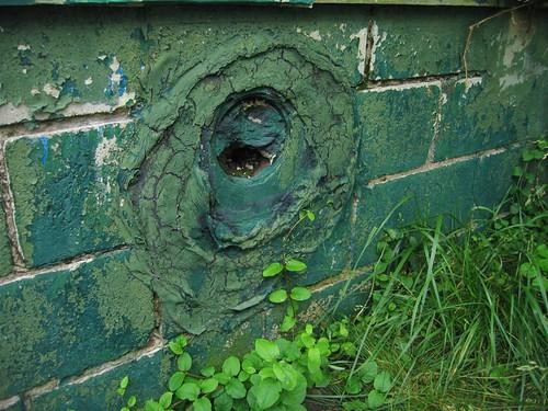 Unusual hole in cinder block
