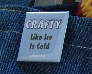 Craftster Pin: Crafty Like Ice Is Cold
