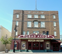 Bad Axe Theatre (dreaminofbeadin) Tags: old brick marquee downtown theatre michigan movies smalltown kofc badaxe thumbarea twoscreens itdoesntcost12toseeashowhere