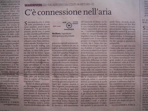 Nova 24 Ora: articolo sul wardriving