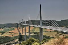 The Millau Viaduct (FaceMePLS) Tags: france viaduct frankrijk brug lafrance facemepls nikond300 autosnelwega75a71 rivierdetarn hoogsteverkeersbrugterwereld