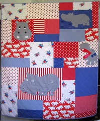 finished hippo quilt