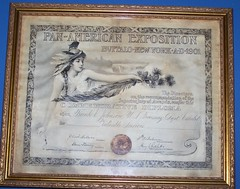 Rare Commemorative Diploma from 1901 Pan Ameri...