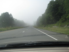 morning fog on I-89 south in vermont (anon..) Tags: morning fog drive roadtrip i89 twoweekswithja
