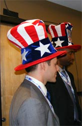 Uncle Sam hats at Democratic convention