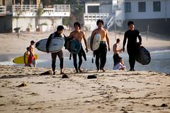 Surf's Up? (Muzzlehatch) Tags: ocean sea beach sand malibu surfers 2008 muzzlehatch