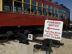 powered switch (contemplative imaging) Tags: railroad usa sign museum train vintage switch illinois cta time trolley union transport may railway trains move any historic clear transportation rails 16 streetcar stay preservation powered irm mchenrycounty illinoisrailwaymuseum 3142 cta3142 irm080824ev143
